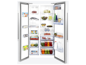Beko 630L Double Door Fridge (Silver)