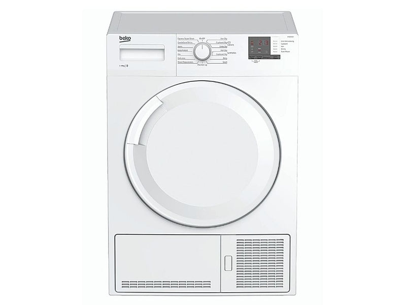 Beko 8Kg Condenser Dryer (DTGC8101W) + Free Stacking Kit