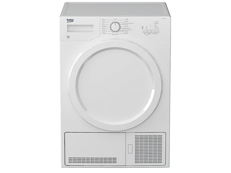 Beko 7Kg Condenser Dryer (DCY7202XW3) + Free Stacking Unit