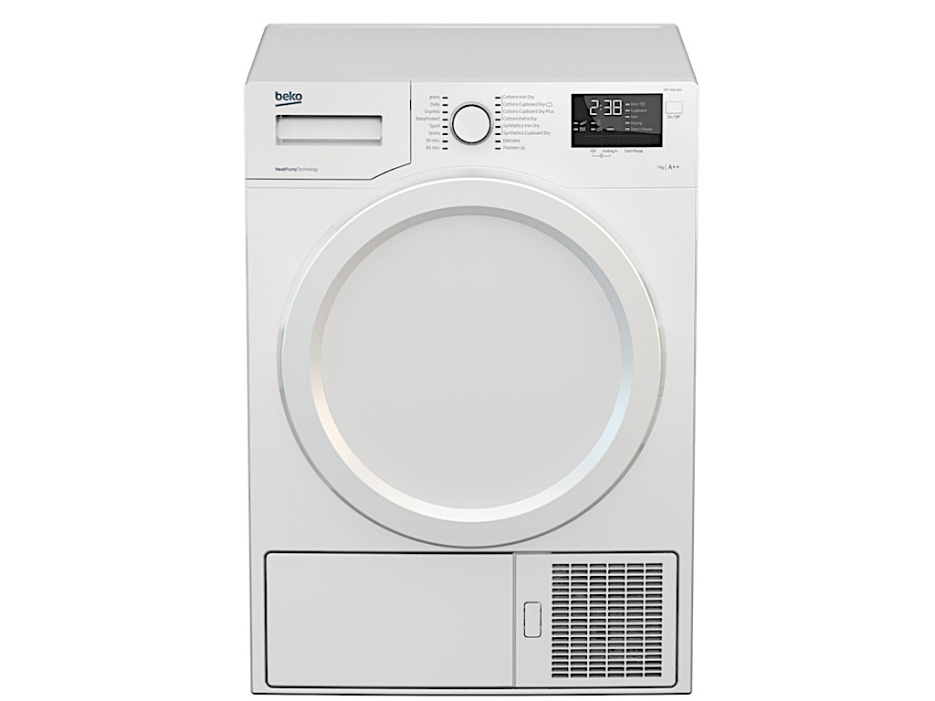 Beko 7Kg Heat Pump Dryer (DPY7405W3) – 5✓✓ ✓ ✓ ✓ + FREE Stacking Unit