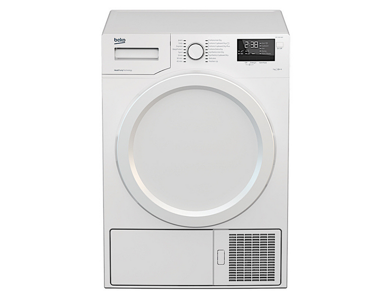 Beko 7Kg Heat Pump Dryer (DPS7405XW3) – 5✓✓ ✓ ✓ ✓ + FREE Stacking Unit