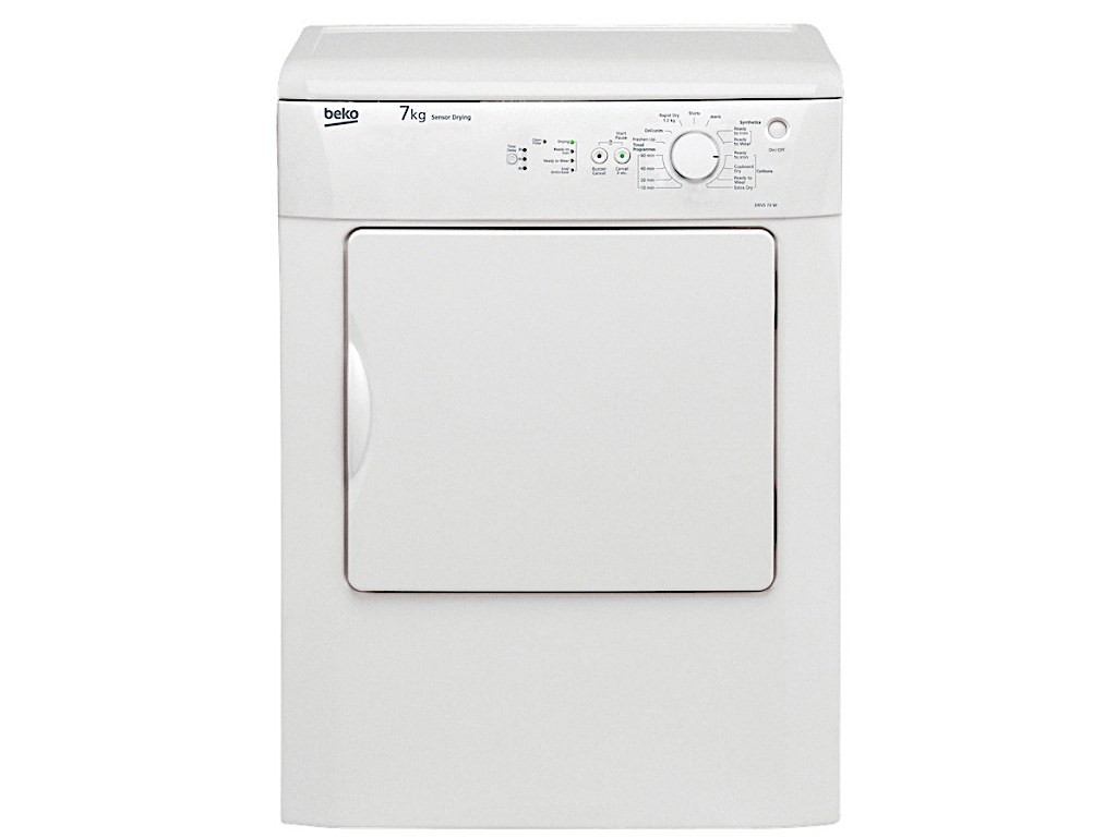 Beko 7Kg Air Vented Dryer (DRVS73W) + FREE Stacking Unit