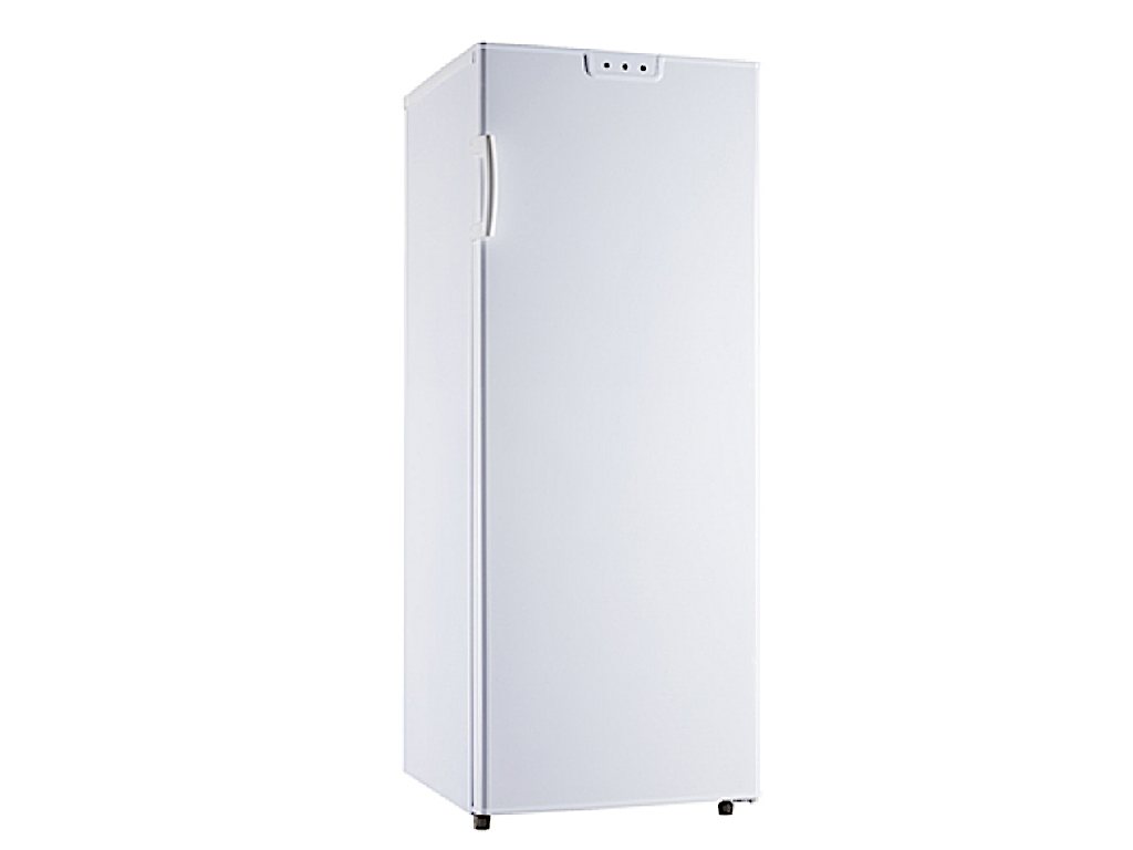 Butterfly 150L upright freezer with 4 transparent drawers + 1 pull up flap compartment