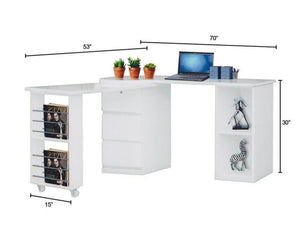 Christine 2 Configuration Study Desk (DA3223) – Top Selling!