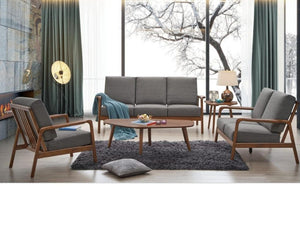 Wooden Sofa Set with Fabric Covers (DA306)