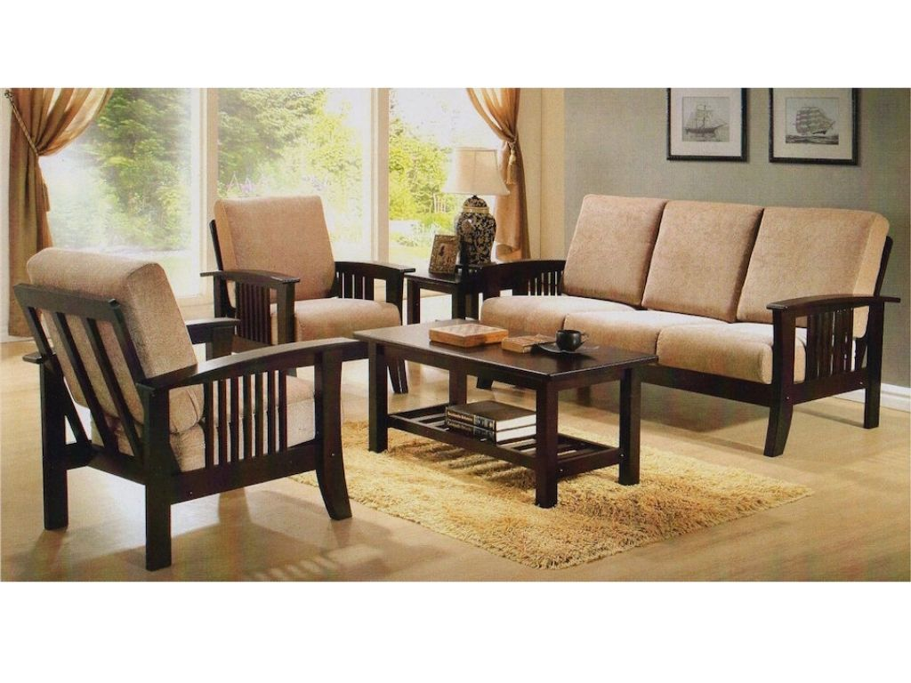 Wooden Sofa Set with Fabric Covers (DA330)