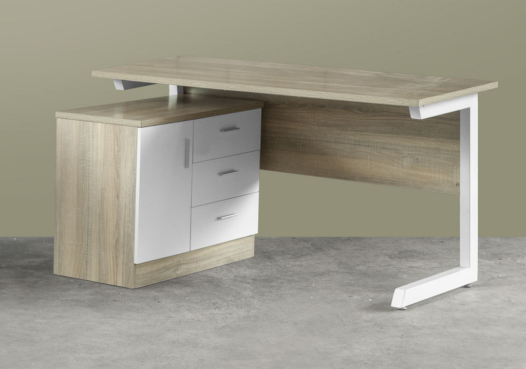 Katy Study Desk with Side Return Cabinet (DA1402)