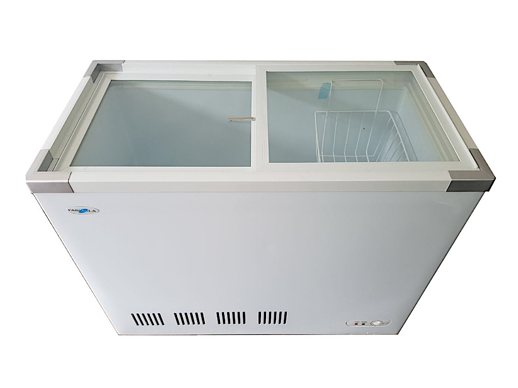 Farfalla 2 Door Chest Freezer (210L) (Sliding Flat Glass Door)