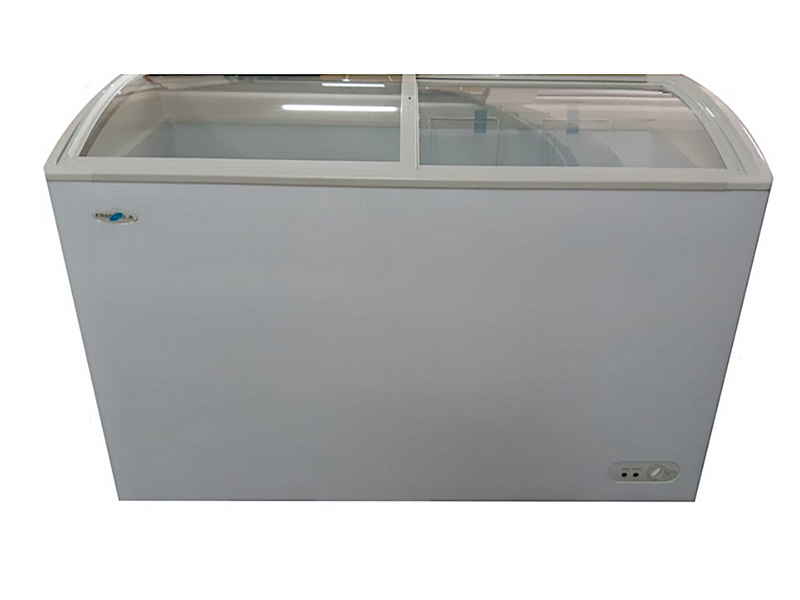 Farfalla 2 Door Chest Freezer (318L) (Sliding Curved Glass Door)