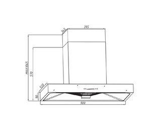 Tecno High Suction Chimney Hood with Booster (KA2298)