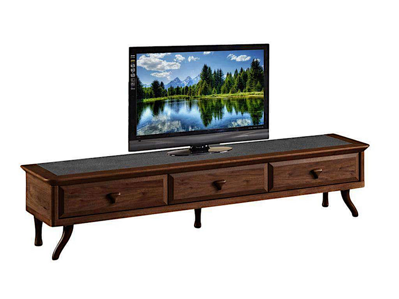 Nick Lavastone Design Tempered Glass TV Console (DA6314)