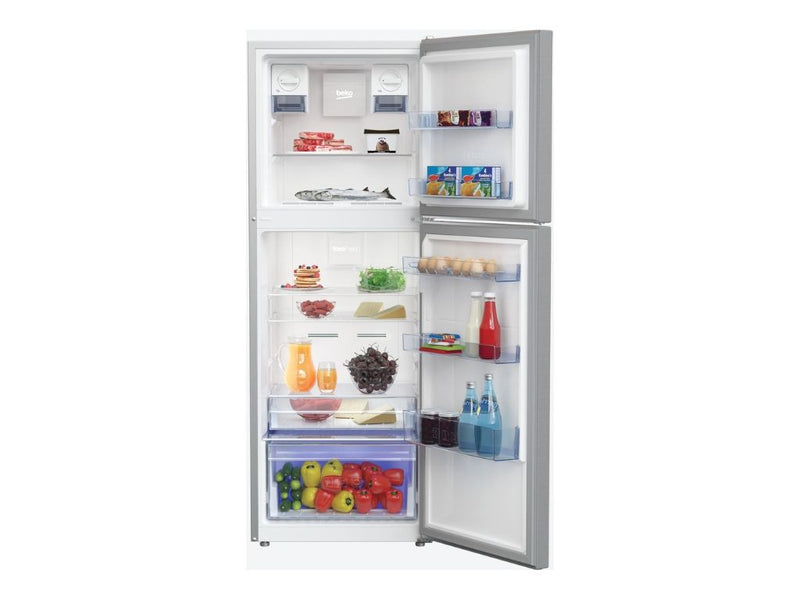 Beko Top Freezer 340L Fridge (Platinum Color) - Latest Model!