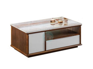 Shannon Coffee Table with Cultured Marble Top (DA6419)
