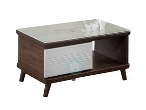 Sylvia Coffee Table with Tempered Glass Top (DA6416)