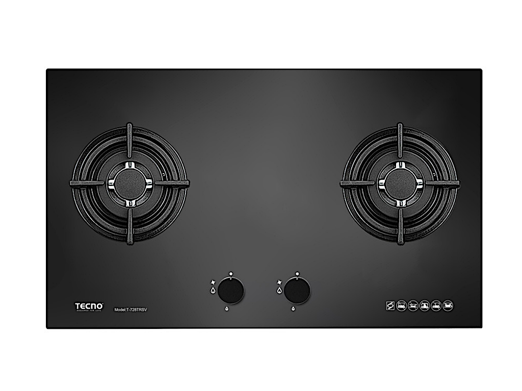 TECNO 2-Burner 70cm Tempered Glass Cooker Hob (T 728TRSV)