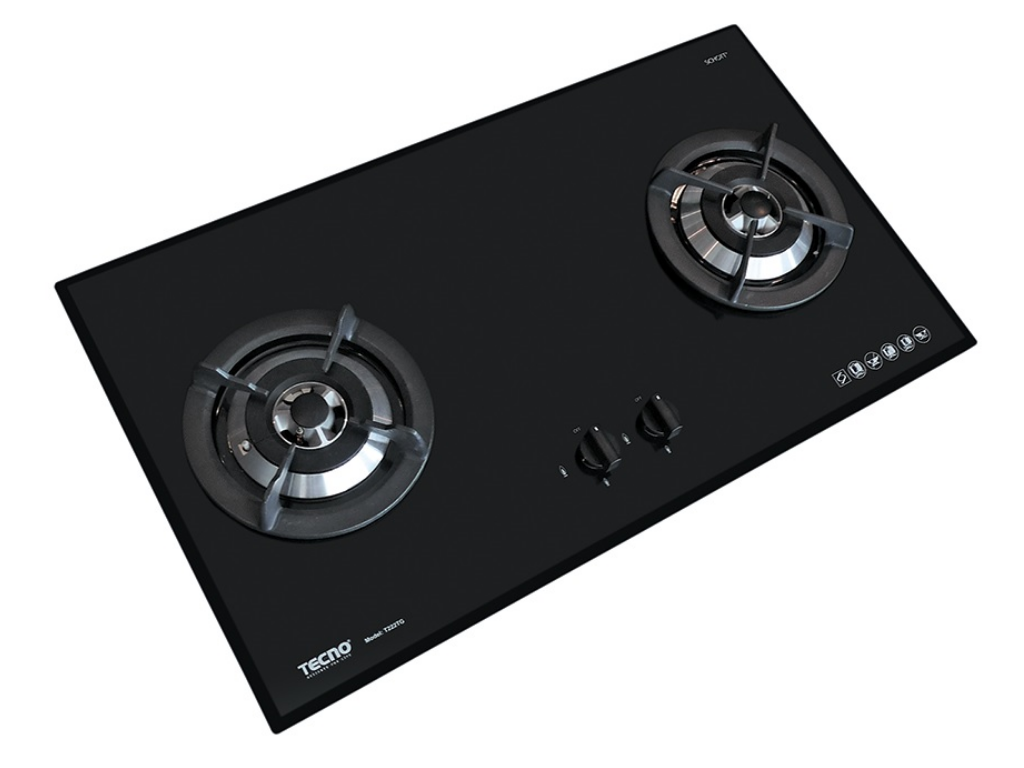 TECNO 2-Burner 90cm Tempered Glass Cooker Hob (T222TGSV)