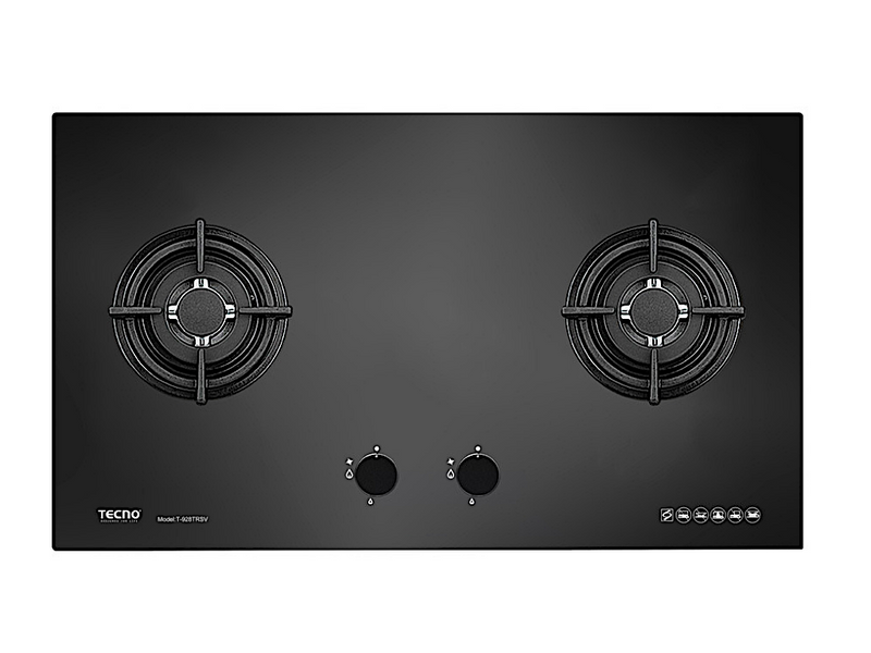 TECNO 2-Burner 90cm Tempered Glass Cooker Hob (T 928TRSV)
