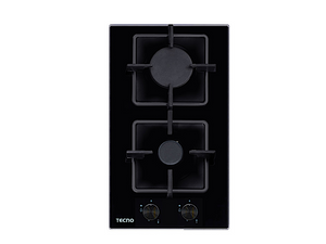 Tecno 2-Burner 30cm Tempered Glass Domino Cooker Hob (TA 312SRSV)