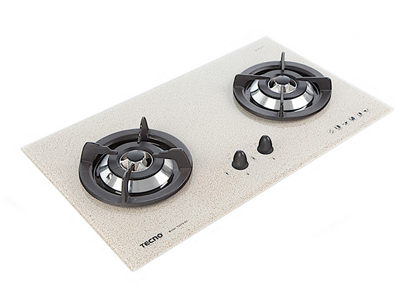 Tecno 2-Burner 70cm Tempered Glass Cooker Hob (T22TGSV)