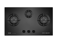 Tecno 3-Burner 70cm Tempered Glass Cooker Hob (T 738TRSV)