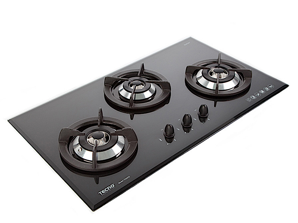 Tecno 3-Burner 90cm Tempered Glass Cooker Hob (T333TGSV (V.V.S))