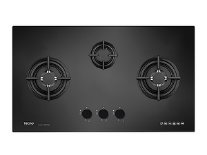 Tecno 3-Burner 90cm Tempered Glass Cooker Hob (T 938TRSV)