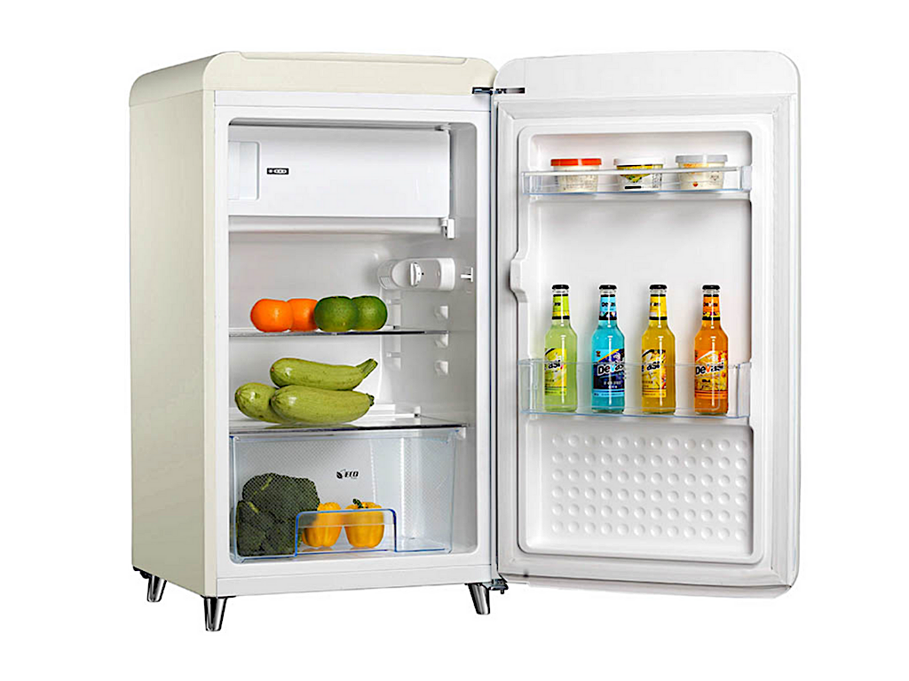 Tecno Retro Series Designer Fridge (Cream)