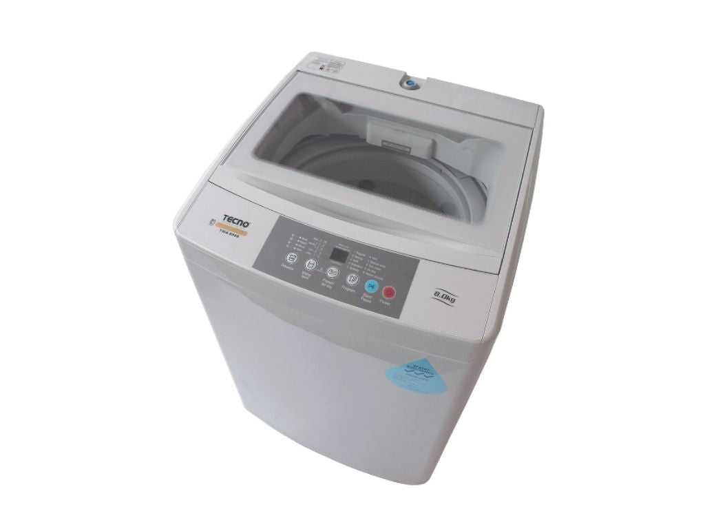 TECNO 8.0kg Top Load Washer (TWA8088) top view