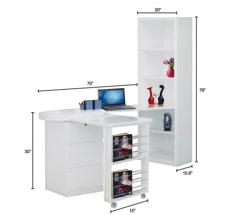 Endo 2 Configuration Study Desk with Standing Shelf (DA3224)