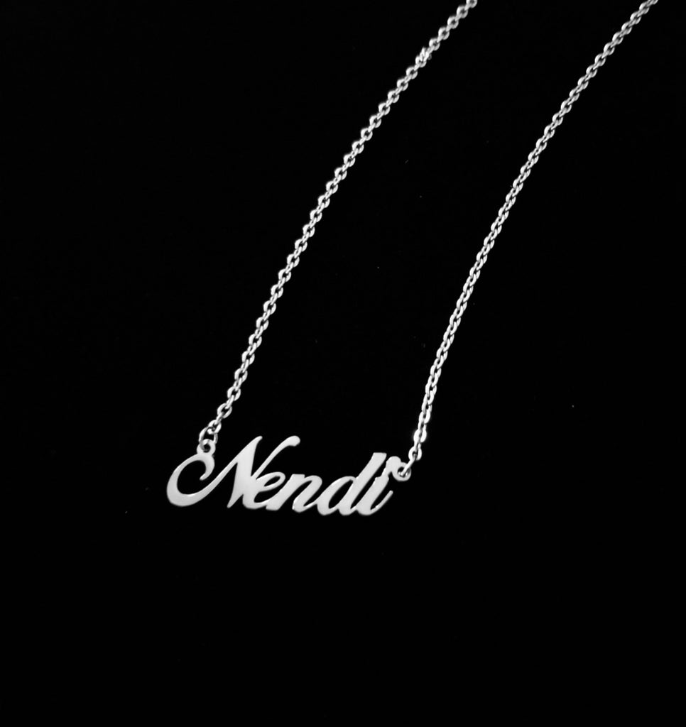 "Say Hello ""Custom Name Necklace"""
