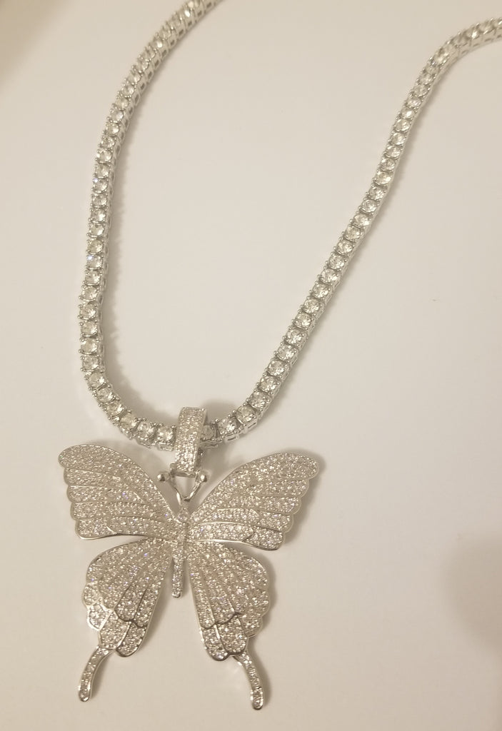 """Be Fly"" Diamond Necklace"
