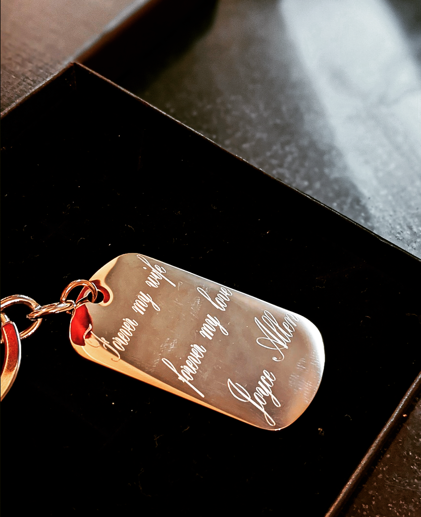 Tag of love -Keychain * Free Engraving*