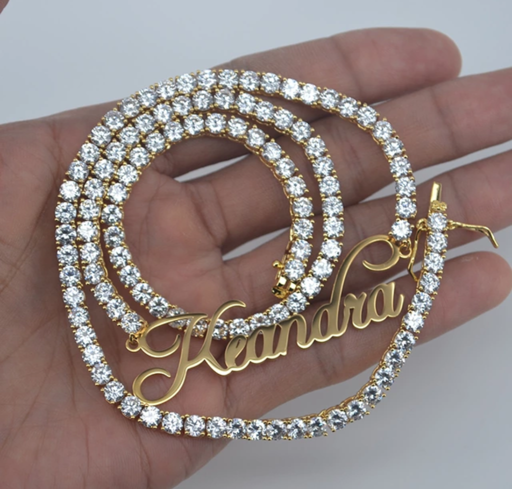 "Diamond Diva ""Custom Name Necklace"""