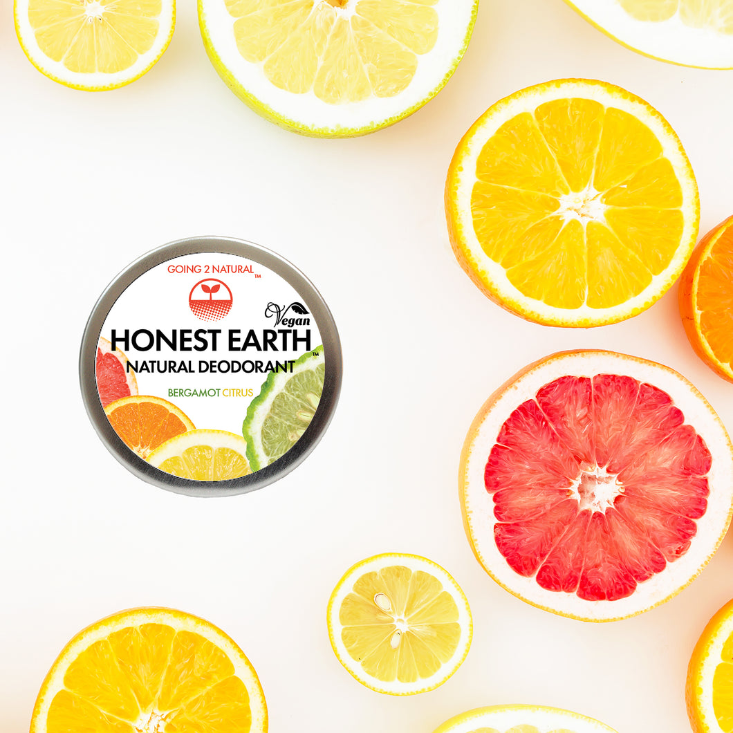 Bergamot Citrus HONEST EARTH All-Natural Deodorant Paste