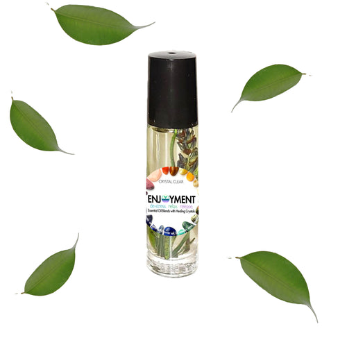 Enjoyment - Essential Oil Blend with Healing Crystal Roller Ball