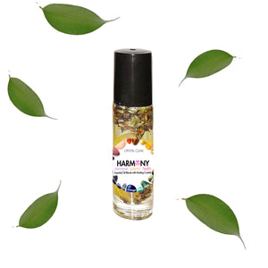 Harmony - Essential Oil Blend with Healing Crystal Roller Ball