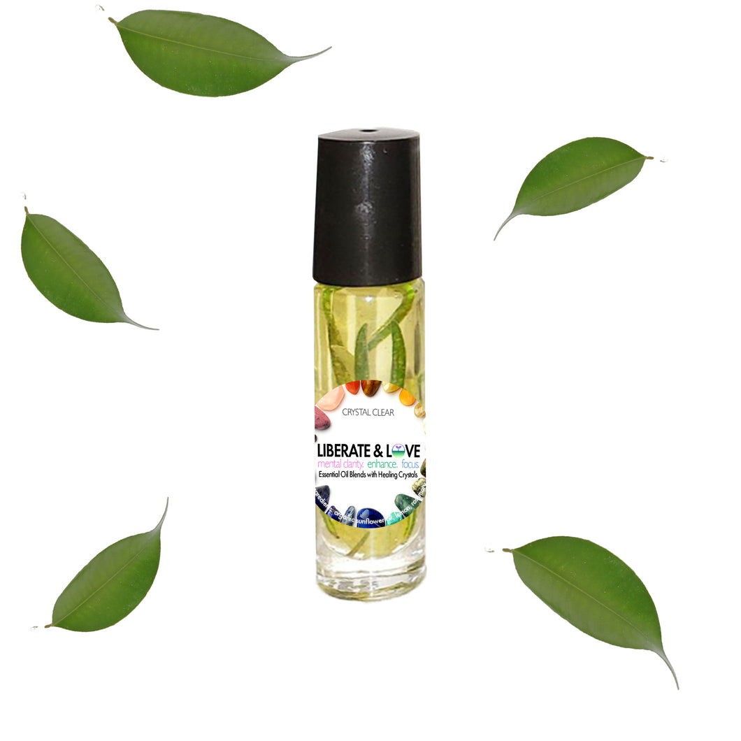 Liberate & Love - Essential Oil Blend with Healing Crystal Roller Ball