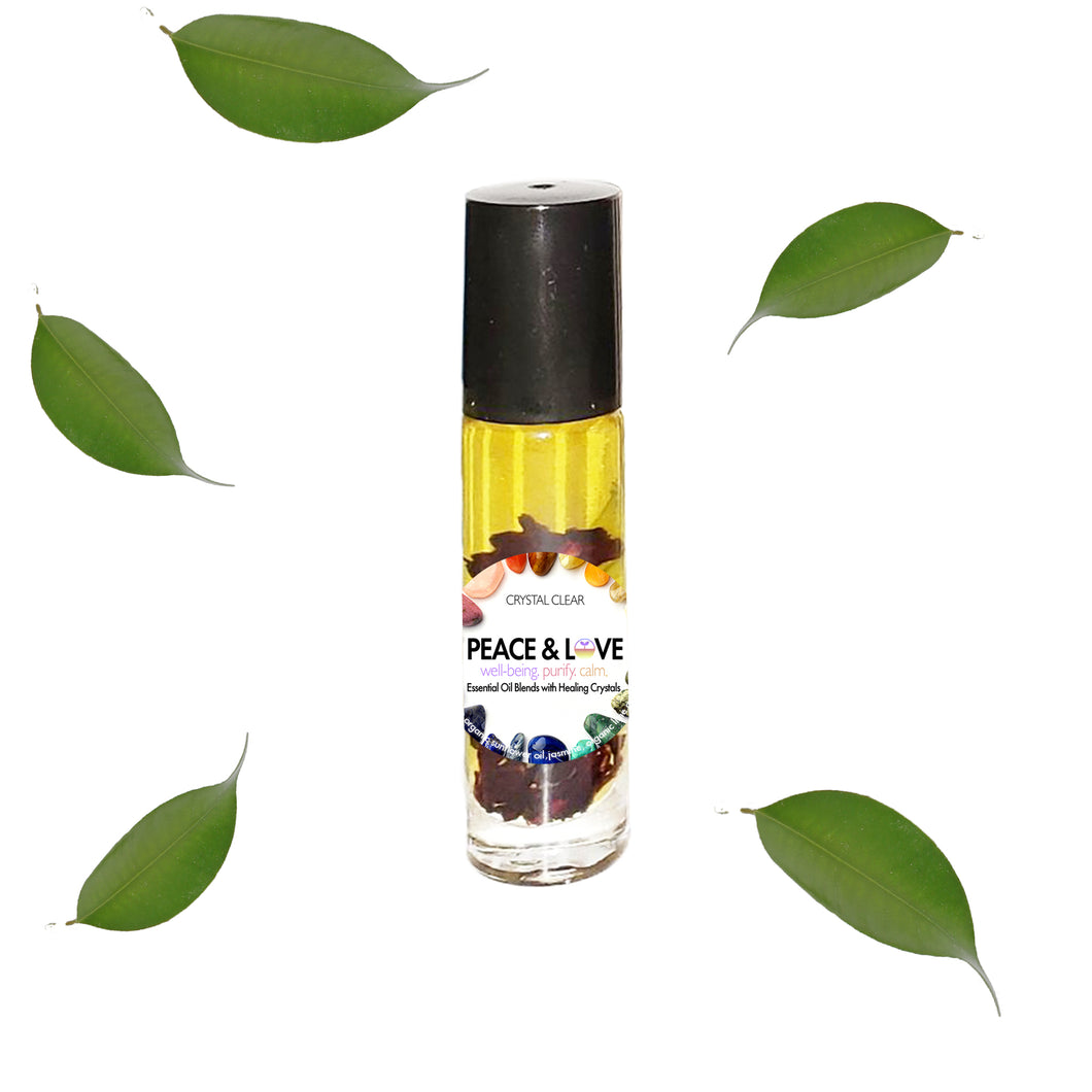 Peace & Love - Essential Oil Blend with Healing Crystal Roller Ball