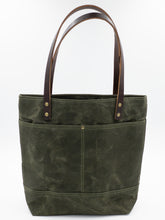 Load image into Gallery viewer, Waxed Canvas Tote - Olive