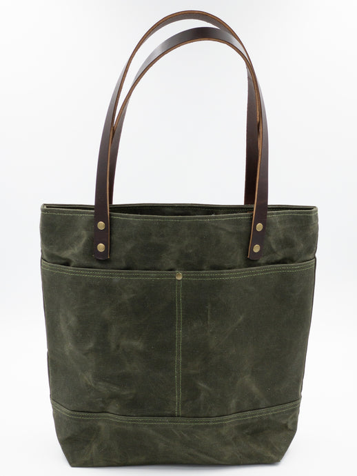 Waxed Canvas Tote - Olive