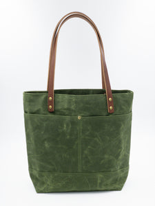 Waxed Canvas Tote - Loden