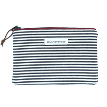 Load image into Gallery viewer, Signature Stripes Medium Zipper Pouch