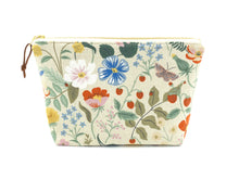 Load image into Gallery viewer, Strawberry fields large zipper pouch