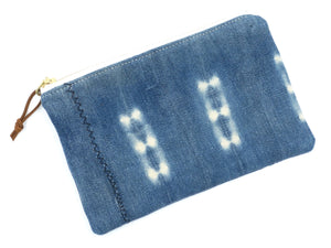 Medium vintage mudcloth zipper pouch - 3