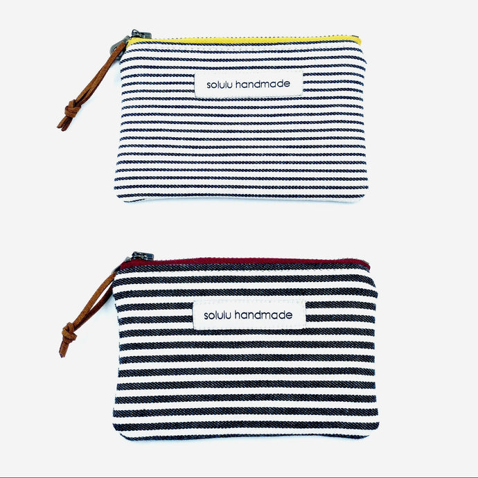 Signature Stripes Small Zipper Pouch