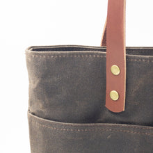 Load image into Gallery viewer, Waxed Canvas Tote - Brown