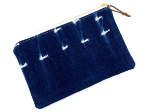 Medium vintage mudcloth zipper pouch - 8