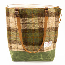 Load image into Gallery viewer, Harris Tweed Zipper Top Tote