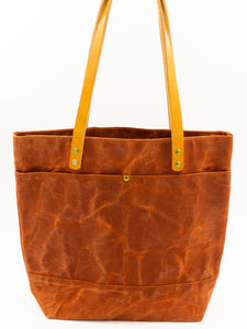 Waxed Canvas Tote - Terra Cotta