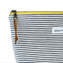 Load image into Gallery viewer, Signature Stripes Large Zipper Pouch